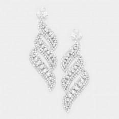 LONG CRYSTAL STATEMENT EARRINGS | BOLTS