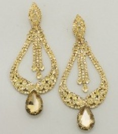 """CRYSTAL PAGEANT STATEMENT EARRINGS   """"MISS AMERICA"""""""