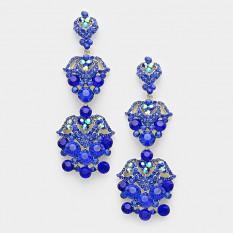 Crystal Rhinestone Chandelier Pageant Earrings