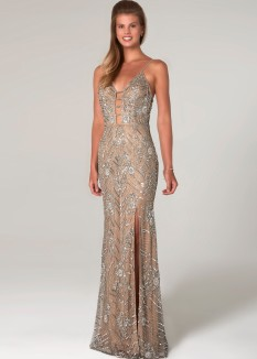 Scala Sequin Beaded Gown 60101