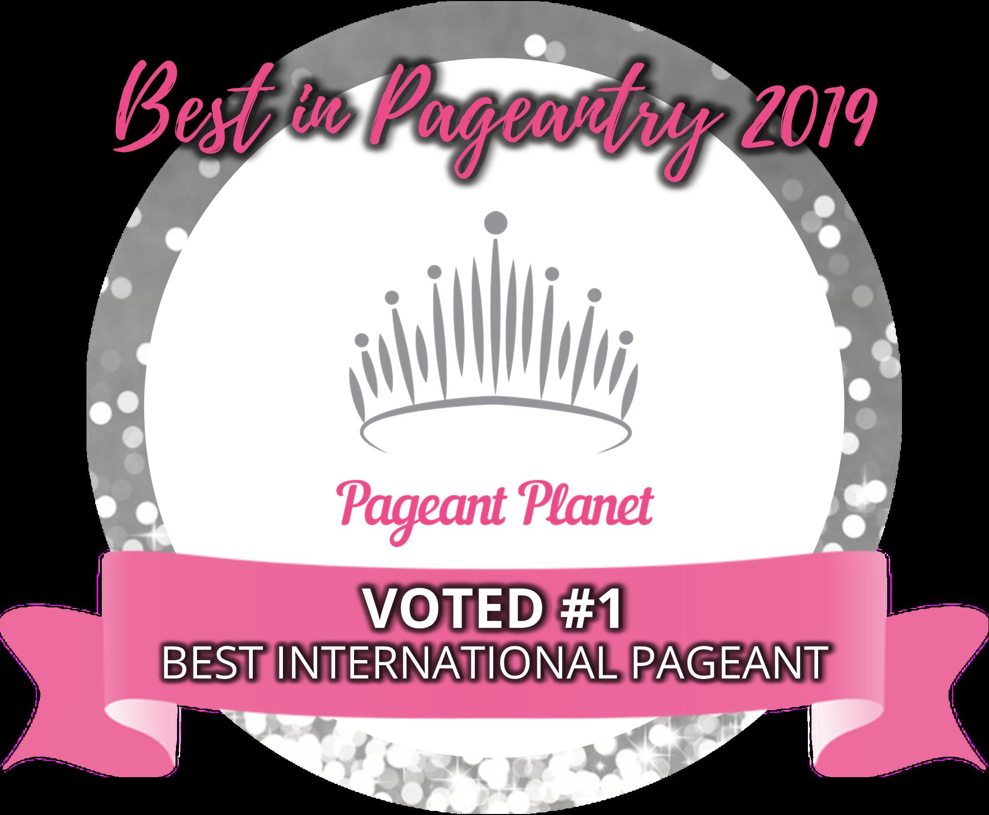 #1 Best International Pageant of 2019