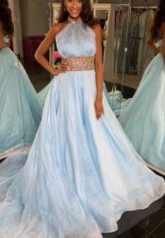 Blue Jovani Couture Ballgown