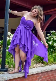 Purple Chiffon Dress by Christina Wu