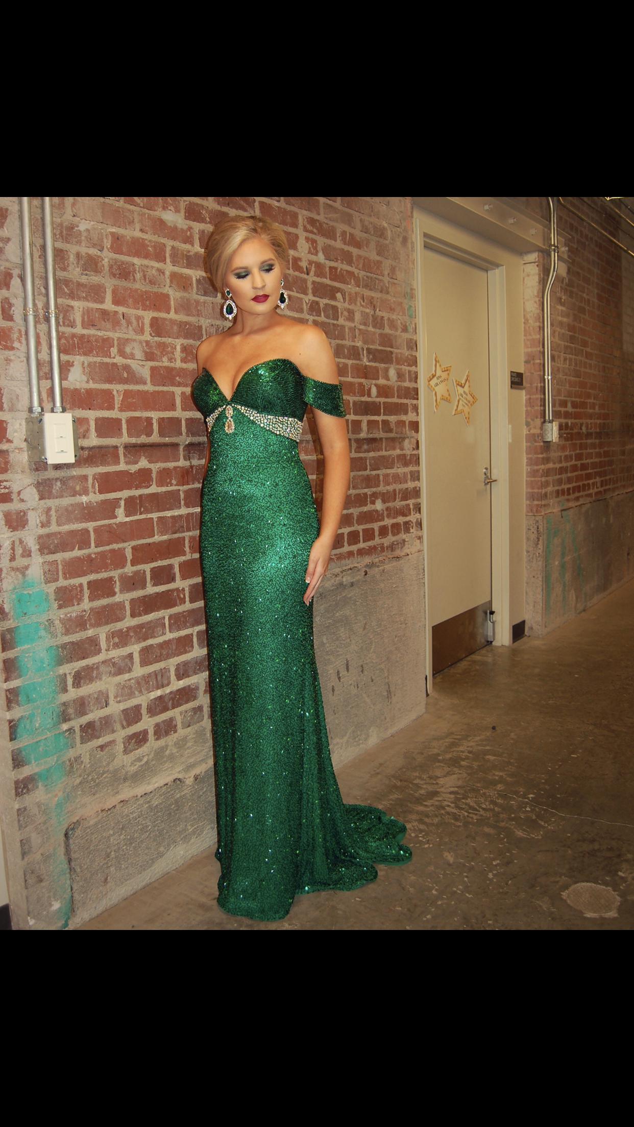 Emerald Green Stephen Yearick Evening Gown