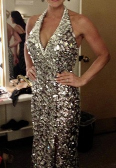"""2012 Tony Bowls """"Mirror Gown"""" REDUCED OBO"""