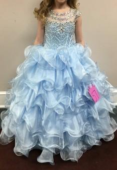 Ice Blue Girls Pageant Dress by Ritzee