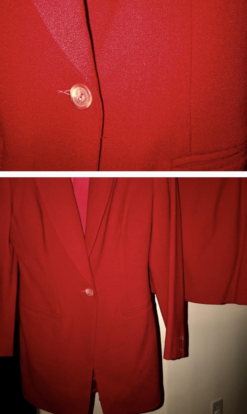 Red custom suit