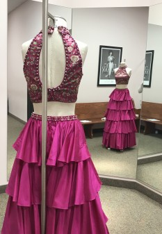 Two Piece Magenta Gown from Sherri Hill