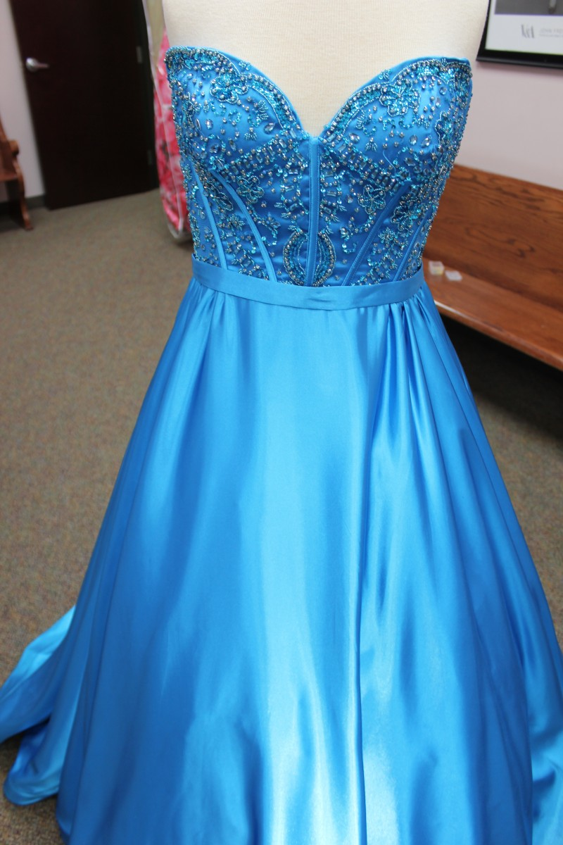 Blue ball gown from Sherri Hill