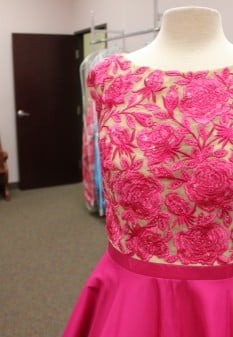 Pink Floral dress from Sherri Hill