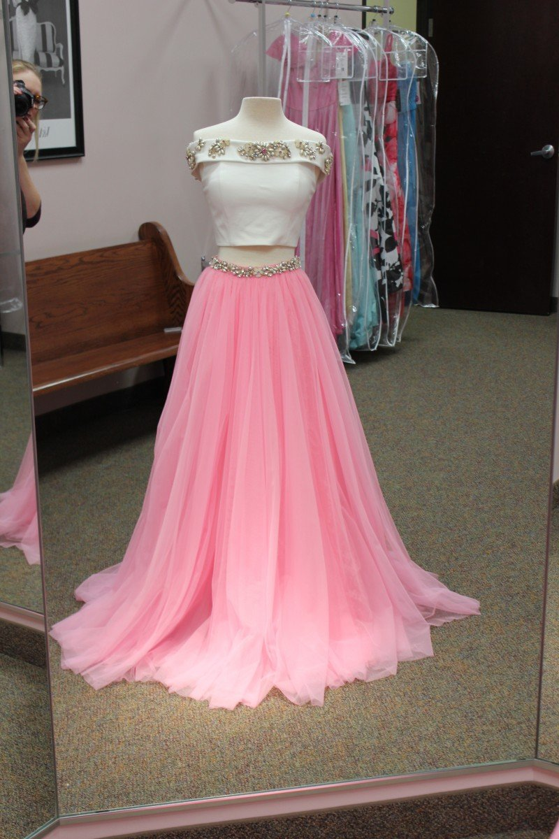 Pink and White two piece from Sherri Hill