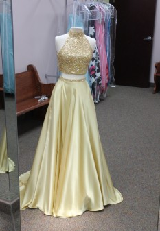 Gold two piece from Sherri Hill