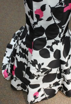 Black, White and Pink two piece from Sherri Hill