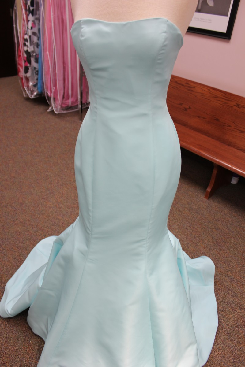 Aqua mermaid dress from Sherri Hill