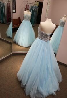 Light Blue Sherri Hill Ball Gown