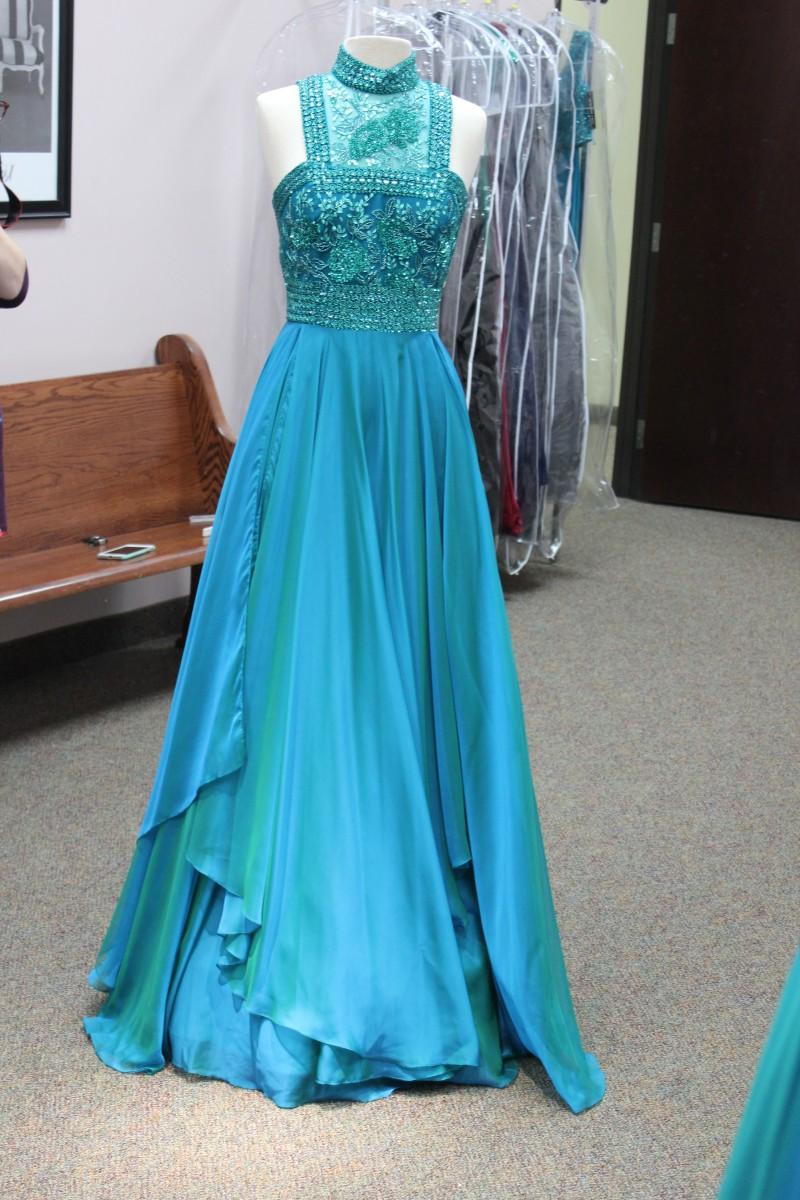 Beautiful Jade long dress from Sherri Hill