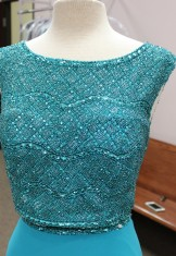 Teal two piece from Sherri Hill