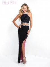 Two piece black dress from Blush