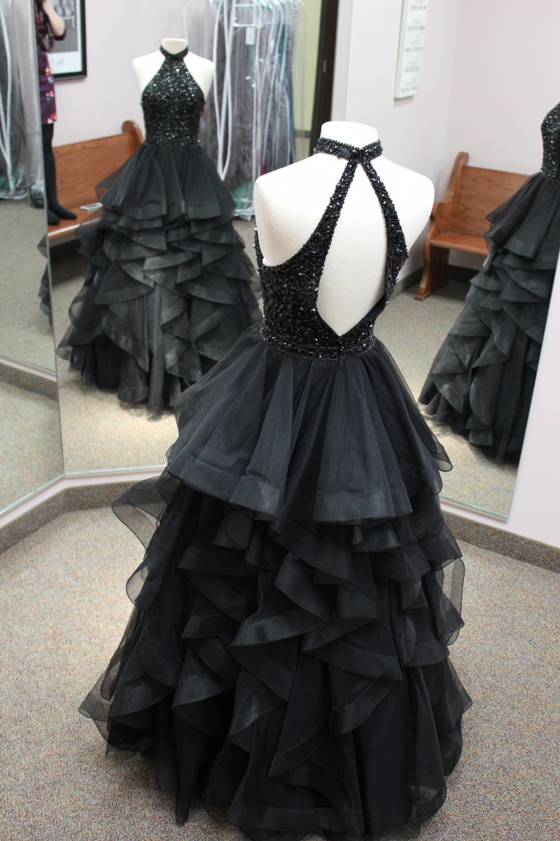Black long ball gown from Sherri Hill