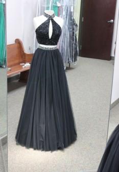 Black two piece dress from Sherri Hill