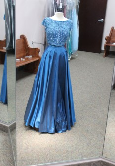 Blue two piece dress from