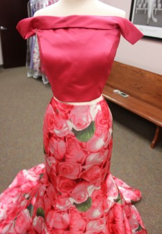 Pink floral print two peice from Sherri Hill