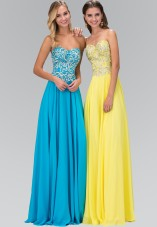 Yellow Sweetheart Chiffon Embroidered Detailing by gls collective