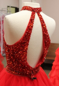 Red ball gown from Sherri Hill
