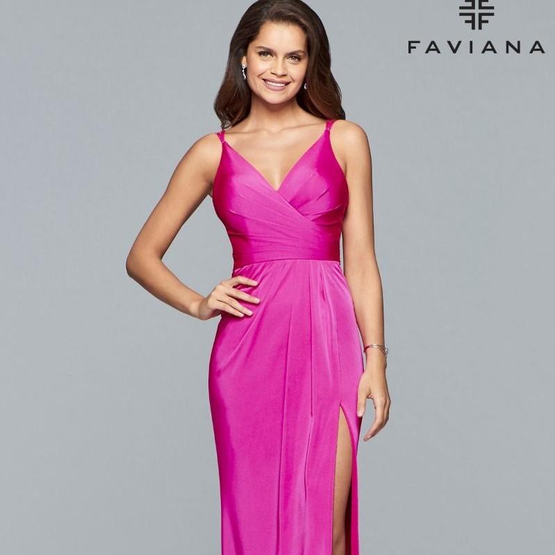 Pink dress from Faviana