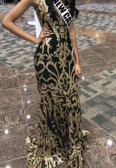 Black & Gold Jovani Dress