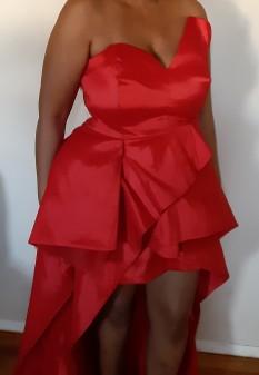 Plus Size Fashion Nova Red High Low Dress