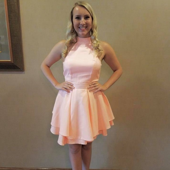 Peach Interview/Cocktail Dress from Lulu's