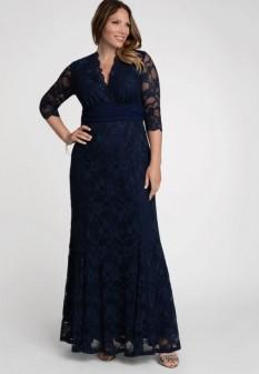Screen Siren Lace Gown in Blue