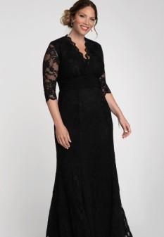 Screen Siren Lace Gown in Black