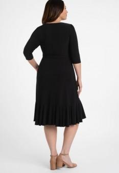 Whimsy Wrap Dress in Black