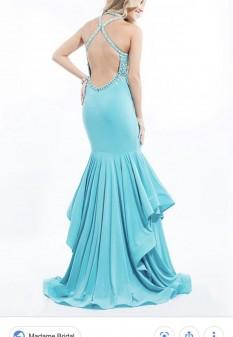 Rachel Allan Tiered Skirt Dress