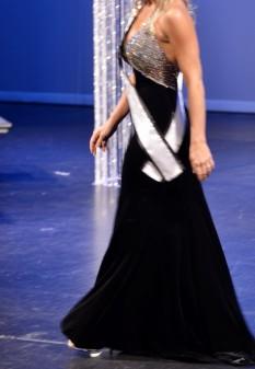 Black & crystal gown
