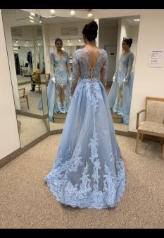 Blue Sherri Hill Evening Gown