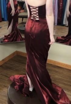 Burgundy Miss Pageant Dress