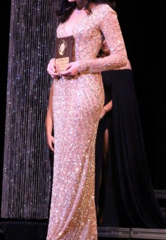 Gold Pageant Dress by Primavera