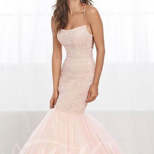 Mermaid Prom Dress with Pearl Beaded Bodice