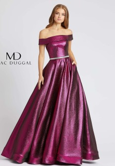 Raspberry Teen Pageant Dress by MacDuggal