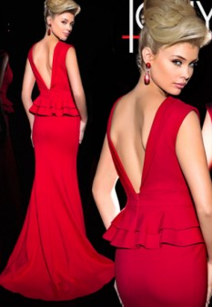Red Miss/Mrs Pageant dress by Tony Bowls