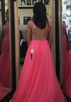 Pink Teen Girl Pageant Dress by Morilee