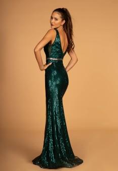 Green Sequin Gown
