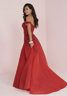 Red Fully Beaded gown