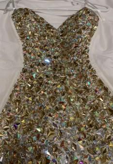 White Jovani Pageant Dress