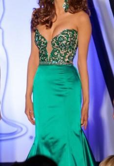 Custom Green Sherri Hill Dress (Like Brand New)