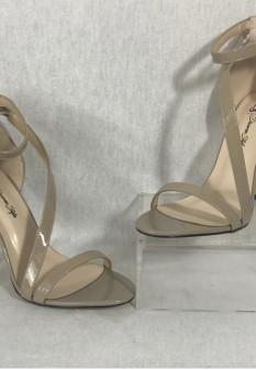 Crossover Strap Heel - Cashew