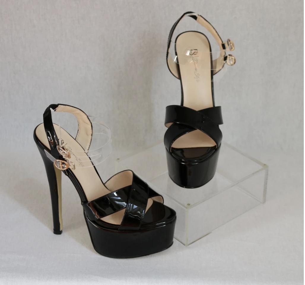 Platform Heel - Onyx
